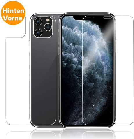 iPhone 11 Pro Max Panzer Glas vorne/hinten Case Friendly