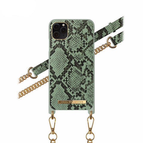 iPhone 11 Pro / X/Xs iDeal of Sweden Necklace Hardcase Hülle - Khaki Python