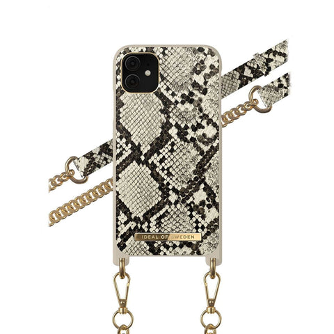 iPhone 11 / XR iDeal of Sweden Necklace Hardcase Hülle - Desert Python