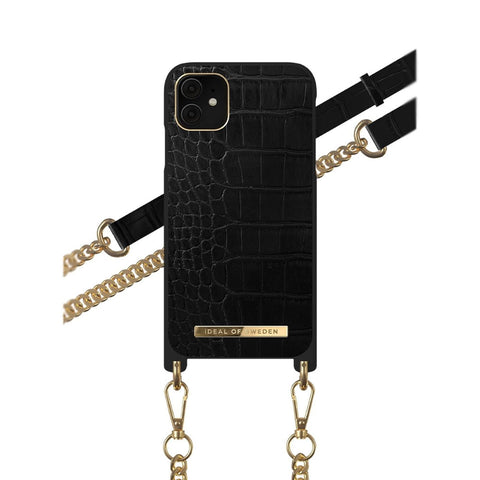iPhone 11 / XR iDeal of Sweden Necklace Hardcase Hülle - Jet Black Croco