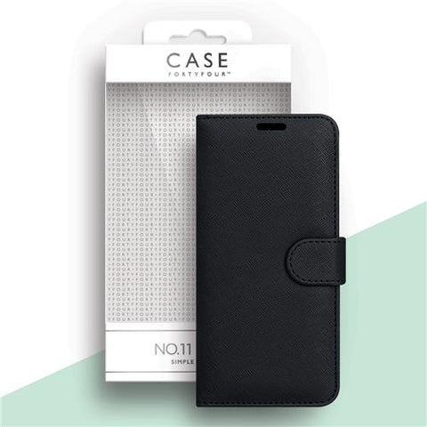 iPhone 12 Mini Case FortyFour Flip Cover - Schwarz