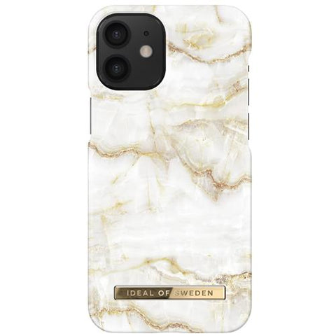 iPhone 12 Mini iDeal of Sweden Hardcase Hülle - Golden Pearl Marble