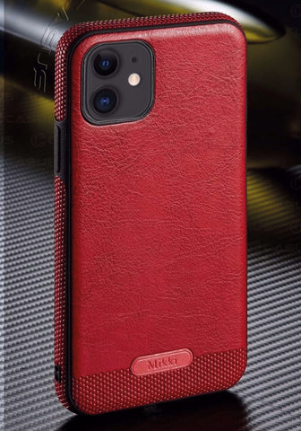 Exclusive Leather Series Handyhülle - iPhone 11 (Rot)