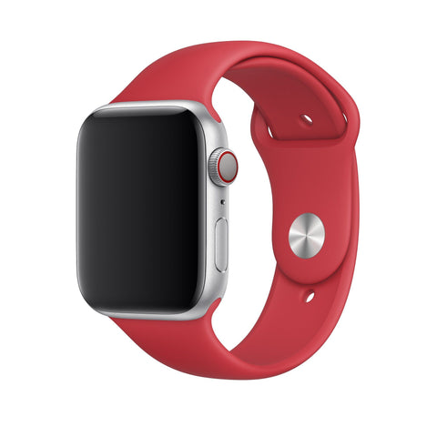 Apple Watch Silikon Armband (Grösse 42/44mm) Rot - 99-covers