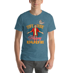 Wife Nude Happy Dude Ultra Premium T-Shirt - Absolute Badass