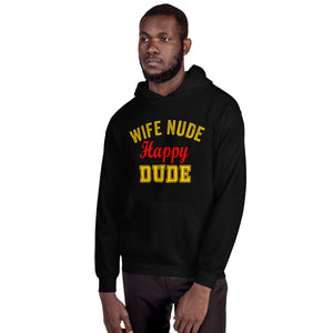 Wife Nude Happy Dude Hoodie - Absolute Badass