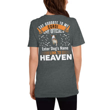 Load image into Gallery viewer, Meet My Amazing Corgi My Official Link To Heaven T-Shirt - Personalized Front And Back - Absolute Badass