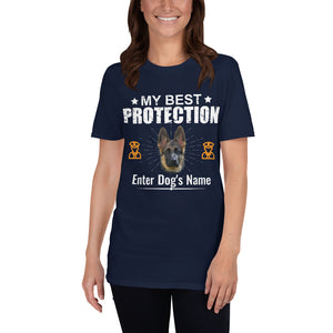 My Best Protection German Shepherd T-Shirt - Personalized