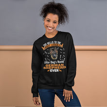 Load image into Gallery viewer, Say Hello To The Most Lovable German Shepherd Ever Sweatshirt - Personalized Front And Rear - Absolute Badass