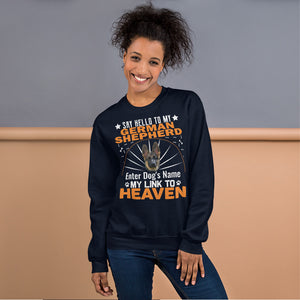 Say Hello To My Corgi My Link To Heaven Sweatshirt - Personalized Front And Back - Absolute Badass