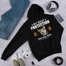 Load image into Gallery viewer, My Best Corgi Protection Hoodie - Personalized - Absolute Badass