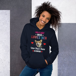 Lady Who Loves Her Corgi Hoodie - Personalized - Absolute Badass