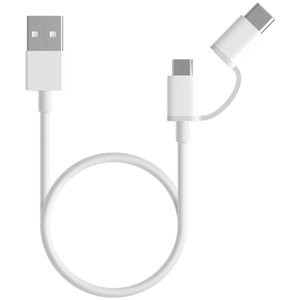 Mi 2-in-1 USB Cable (Micro USB to Type C) 30 cm - MiStore.pk