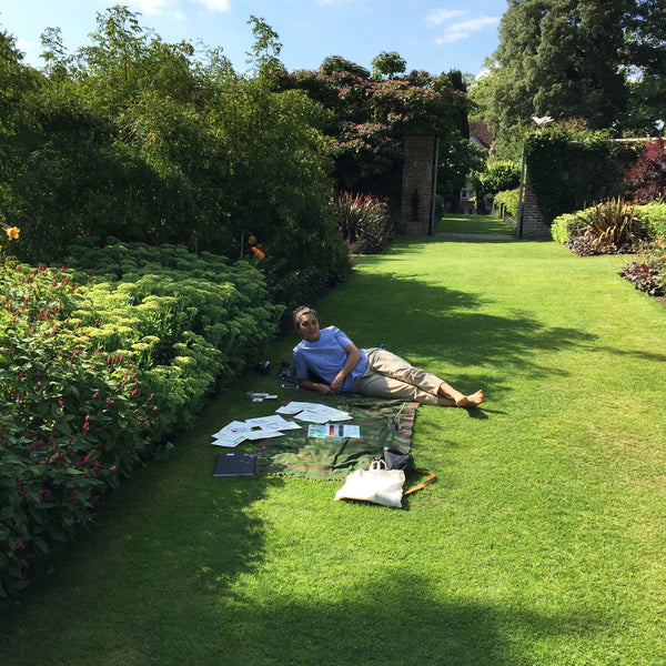 K sketching at Pashley Manor