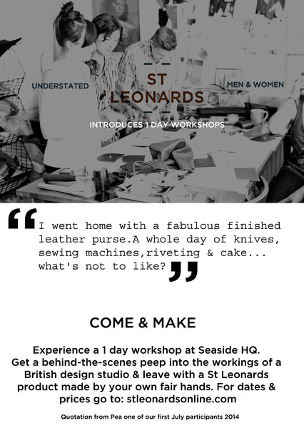 one day leather bag workshops