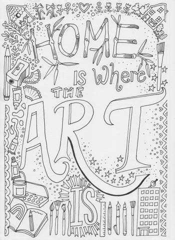 WHERE I WANT TO BE FREE downloadable colouring sheets
