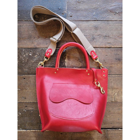 #70 Saddlery Tote Bag in Scarlet