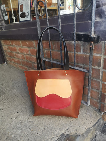 The Southwater Tote in Chestnut