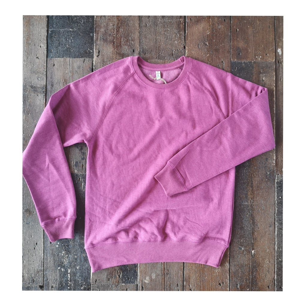 MODERN GOODS HEATHER PURPLE RAGLAN SWEATSHIRT