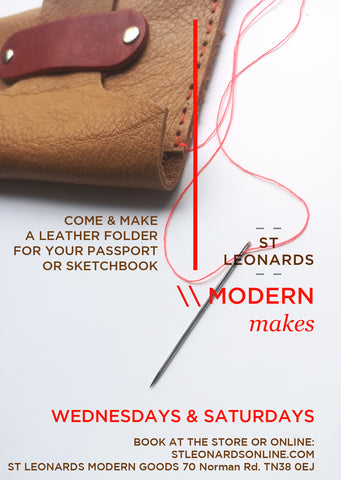MODERN MAKES: Leather Artist Folio / Passport Holder