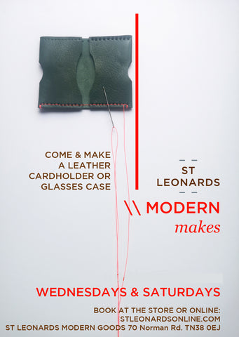 MODERN MAKES: Italian leather cardholder / spectacle case making workshop