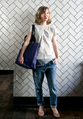 TOTELY BUCKET TOTE in Nautical Blue
