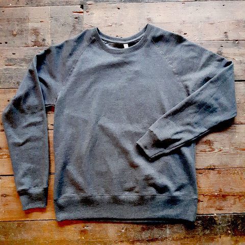 DARK GREY COTTON & WATER BOTTLE BLEND SWEATSHIRT