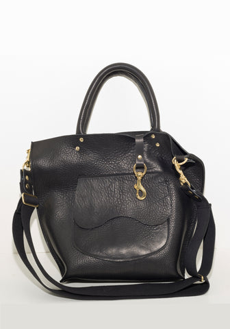 #70 Saddlery Tote Bag in Cinder black