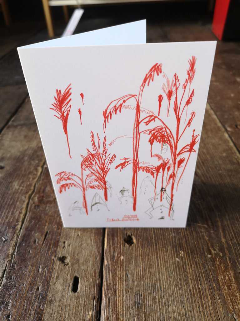 POO & WEE FOREST GREETINGS CARD