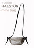 HALSTON MINI BAG Metallic Pewter