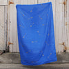 Royal blue 100% Linen throw with gold screen printed arrows