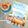 Neon pink 'LOVER' flag featured in Australian House and Garden Magazine with coffee cup