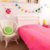 Bright and fun kids bedroom using all Taylor and cloth's handmade products