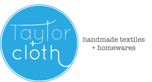 Taylor + cloth handmade textiles + homewares logo