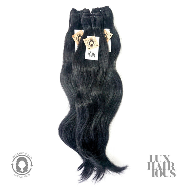 NATURAL SLIGHT WAVE (BLACK) - LUXHAIRIOUS