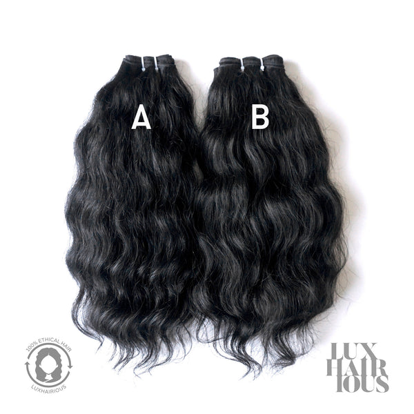 NATURAL VIRGIN WAVY (THICK) - LUXHAIRIOUS