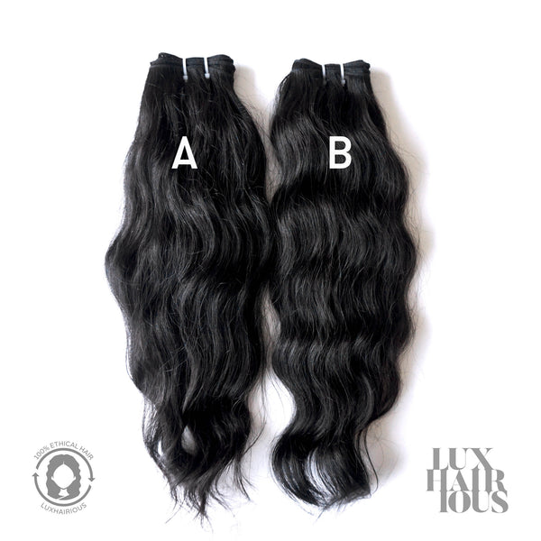 NATURAL VIRGIN WAVY - LUXHAIRIOUS