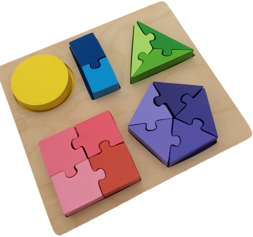 Shape Fractions Puzzle