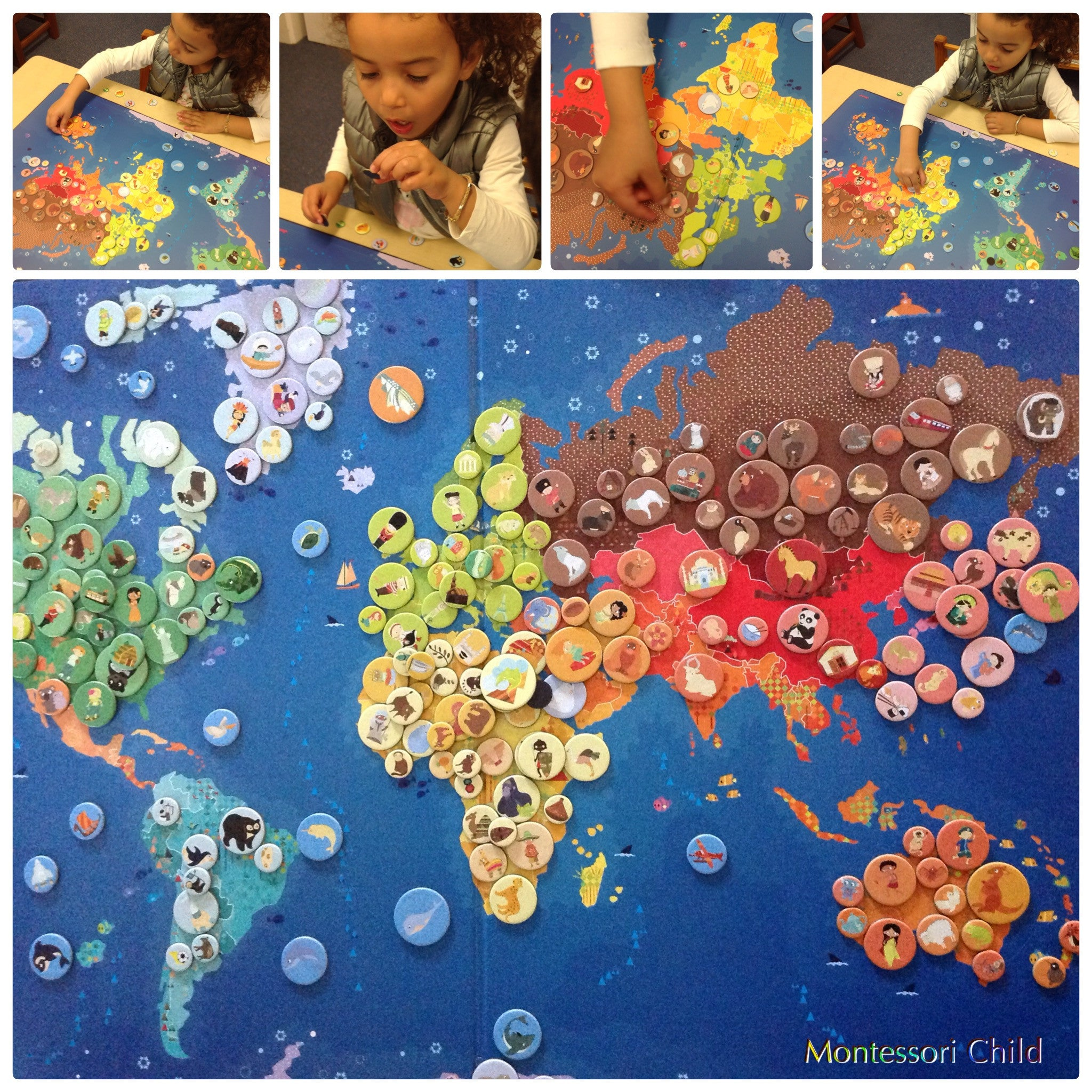 Janod magnetic world map montessori child janod magnetic world map gumiabroncs Image collections