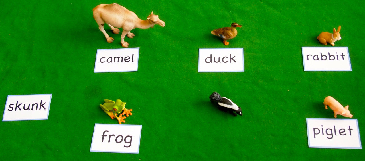 Animals & Cards Set - Blue (4-6 Letter) Phonetic Reading