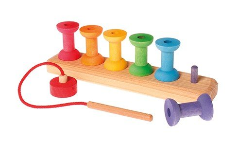 Rainbow Threading Bobbins