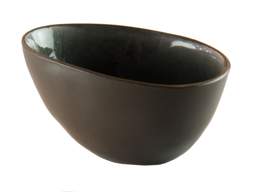 Abstract Oval Bowl