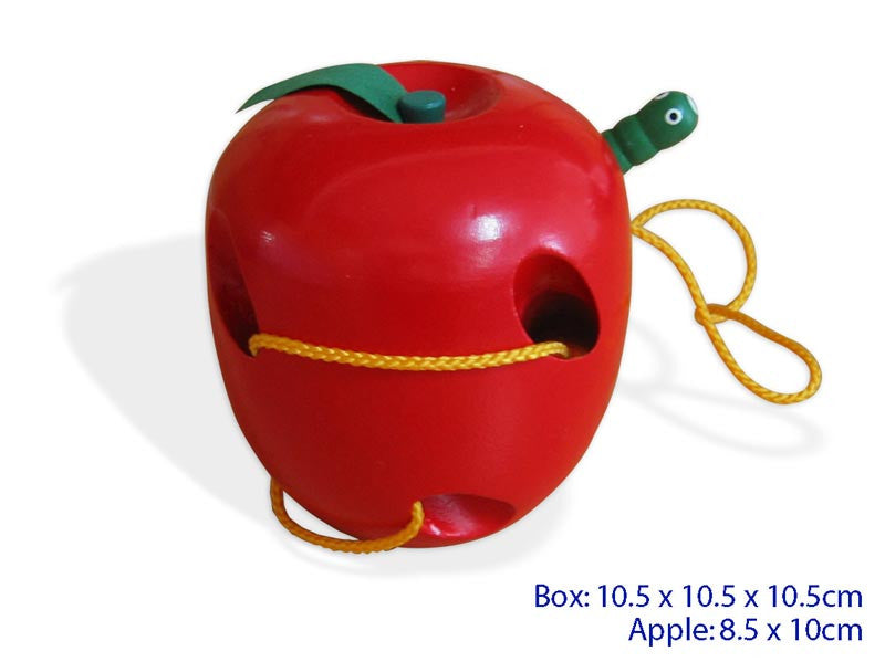 Wooden Lacing Apple