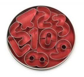 0-9 Number Cookie Cutters