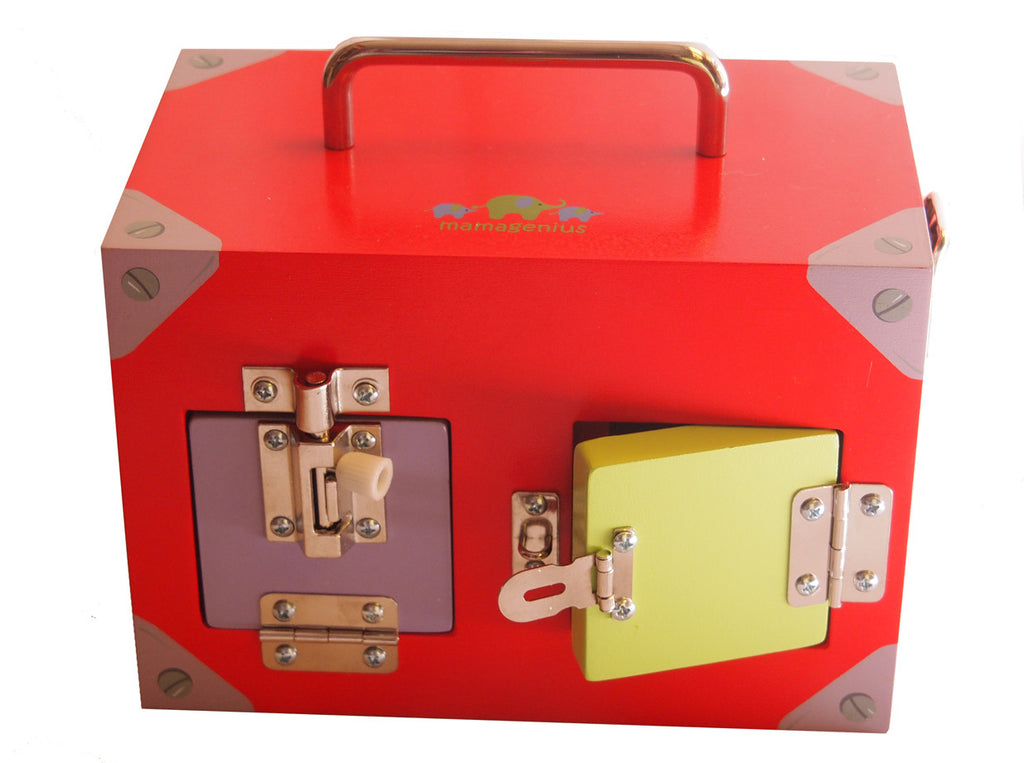 Small Red Locks & Latches Box