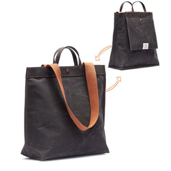 No. 301 Bootcut Tote Black Truffle (REVERSIBLE)