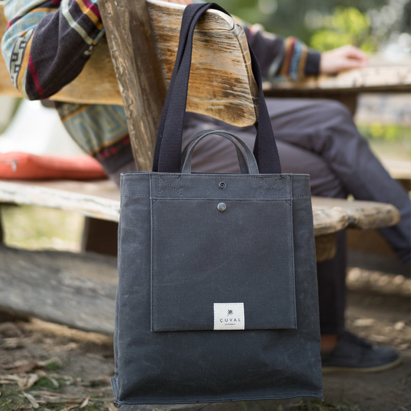 No. 301 Bootcut Tote Charcoal (REVERSIBLE)