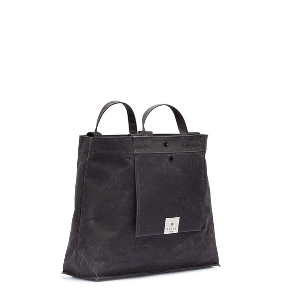 No. 204 Large Tote Charcoal (ÇİFT TARAFLI)