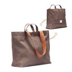 No. 204 Large Tote Tobacco (REVERSIBLE)