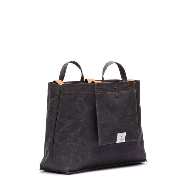 No. 205 XLarge Tote Black Truffle (REVERSIBLE)